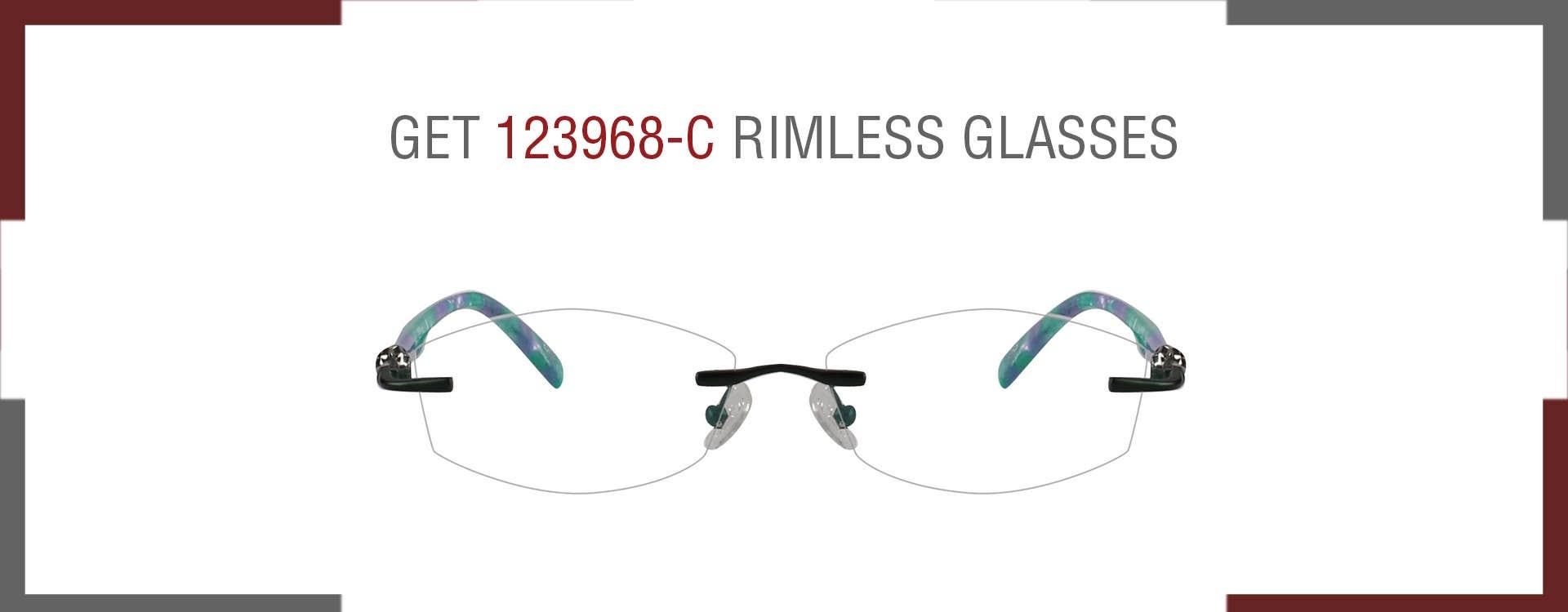 123968-C RIMLESS EYEGLASSES