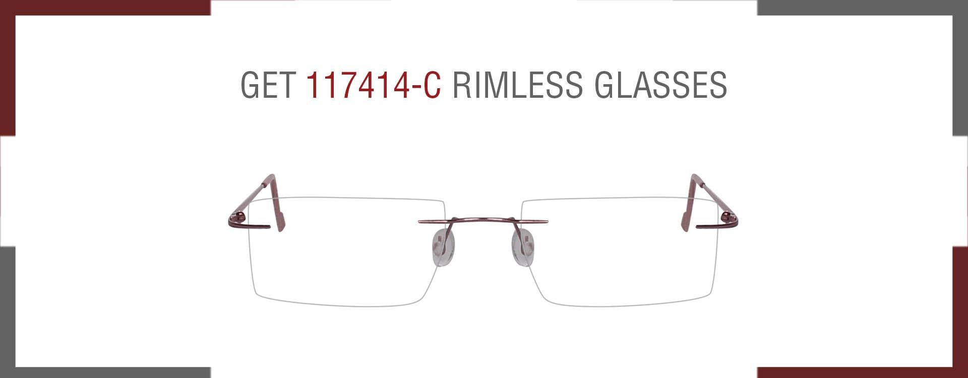 117414-c RIMLESS EYEGLASSES