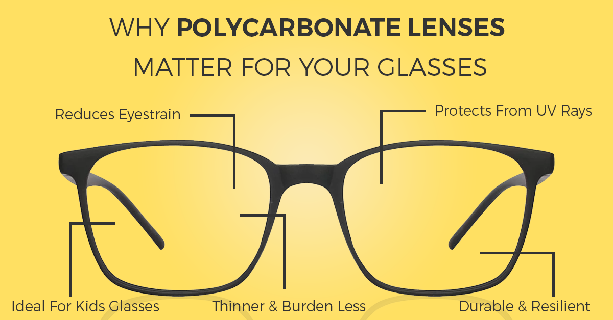 Polycarbonate: The Lighter, Tougher & Safer Lenses For Your Glasses