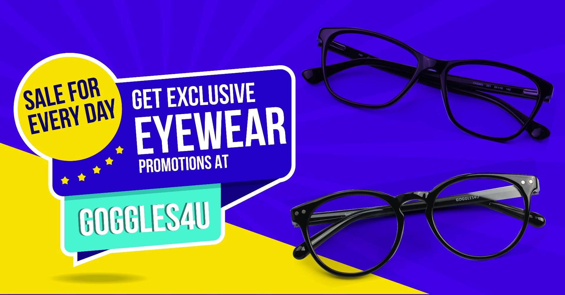 Sale For Every Day - The Exclusive Eyewear Promotions at Goggles4U